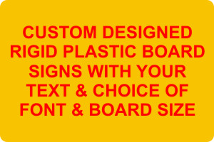 Sign Board with Custom Sizes and Designs