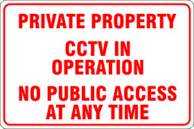 Private Property CCTV in Operation