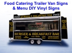 Food Catering Trailer Van Signs & Menus for DIY Vinyl Signs