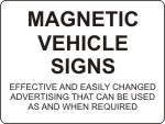 Magnetic Car and Vehicle Signs