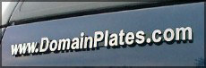 To Buy Domain Plates are car signs that promote  anything ... anywhere, Click Here