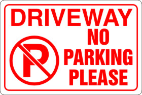 Private Driveway No Parking Sign