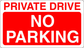 Private Drive No Parking Rigid Sign Board