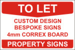 Click to Buy Private Property To Let Single Side Sign Boards