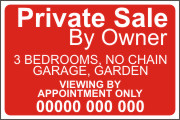 House or Property for Sale By Owner Sign