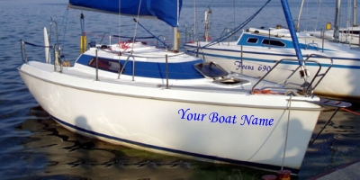 Vinyl DIY Signs For Boat And Yacht Names And Decals And Marine Signs - Decals for boats uk