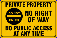 Click to Buy Private Property Signs