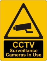 CCTV Warning Sign Boards