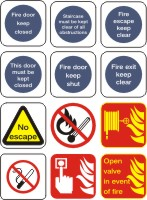 Fire Related Health and Safety Signs