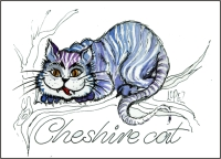 Cheshire Cat  Fridge Magnet