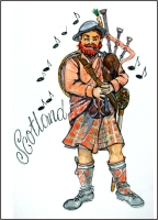 Scotland Scottish Piper  Fridge Magnet