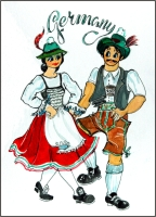 Bavarian  Fridge Magnet
