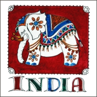 India  Fridge Magnet