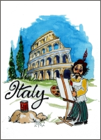 Italy  Fridge Magnet