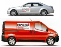 Click to View Options in Magnetic Vehicle Signs