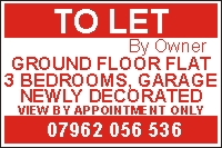 Property To Let Correx and Vinyl Sign