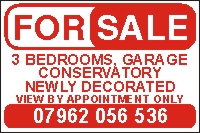 Property For Sale Correx and Vinyl Sign
