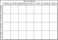 Revision Planner 7 Days 4 Weeks