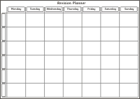 Revision Planner 7 Days 6 Rows