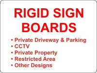 Click to View Options in Rigid Board Signs