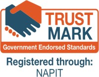 Vinyl Signs with TRUSTMARK and NAPIT Logos
