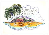 Domican Republic Fridge Magnet