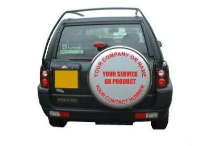 Wheel Covers Decals with Your Design or Text and Logo